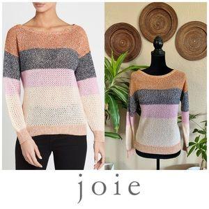 Joie multicolor Deroy B woven striped sweater